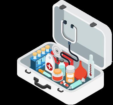 clip art of medicine kit